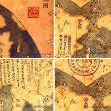 Ancient Map Ancient Map Of The World China Zheng He Nautical Chart Sheepskin
