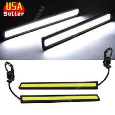 2x bright white car cob led lights drl fog driving l
