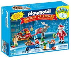 lighted santa s workshop advent calendar playmobil 5494 christmas advent calendar santas workshop amazon co