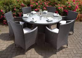4 Seater Patio Furniture Set - caredo maze rattan la 6 seat round rattan garden furniture set
