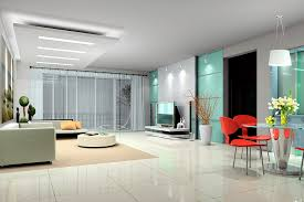 modern apartment decor complete with modern sofa set and round