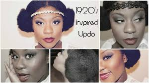 1920s hairstyles for black women natural hair 1920 s inspired updo youtube