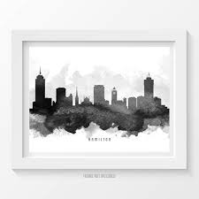 home decor hamilton hamilton poster hamilton skyline hamilton cityscape