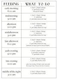 printable evening schedule baby sleep and eating schedule daily schedule and log for baby