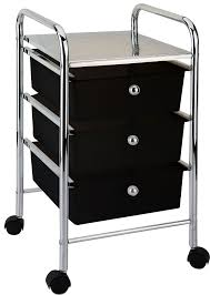 3 4 drawer trolley black white kitchen food bathroom storage tier
