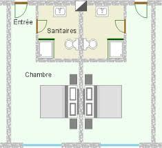 plan d une chambre d hotel les locaux d hébergement