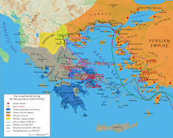 Blank Map Of Greece by Map Greco Persian Wars U2022 Mapsof Net