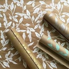 wrapping paper roll silver gift wrap 9 ft roll screen printed