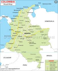 map of the road colombia road map road map of colombia