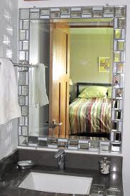 diy frame bathroom mirror