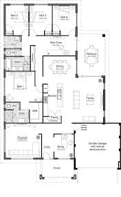 Simple One Story House Plans by Exellent Simple House Floor Plans One Story 2 Bedroom Floorplan On