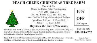 peach creek christmas tree farm tour