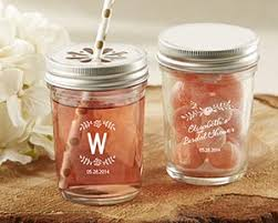 rustic bridal shower favors personalized printed glass jar rustic bridal shower