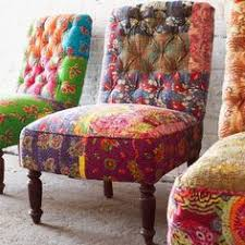 Colourful Upholstery Fabric Modern Bohemian Furniture Google Search Renos Pinterest