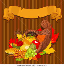illustration thanksgiving cornucopia harvest fruits stock