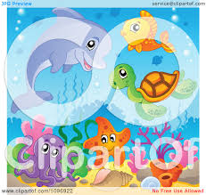 sea creatures clipart china cps