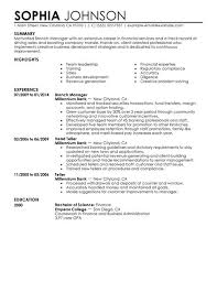 business development manager resumes best branch manager resume example livecareer