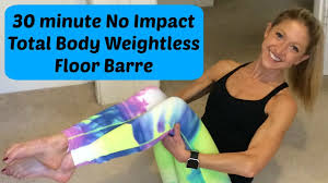 30 minute no impact total body floor barre for healing strength