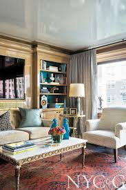 tour a striking carnegie hill apartment doused in high gloss color