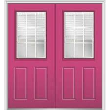 Steel Exterior Doors Home Depot by Pink Double Door Front Doors Exterior Doors The Home Depot