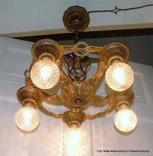 Rewiring A Chandelier by 1930s Flush Mount Art Deco Chandelier 300 Carlson Galleries On