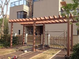 low cost wood plastic pergola supplier wpc landscape pinterest