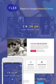 Best Resume Website Templates by Flex Portfolio U0026 Resume Website Template 65538