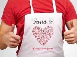 tablier de cuisine homme personnalisé tablier de cuisine personnalisable à votre choix pour femme ou
