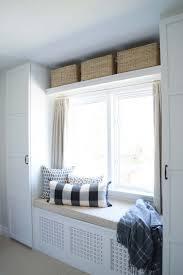 Diy Bedroom Wall Closets Rambling Renovators Built In Bench Over Radiator Ikea Built In