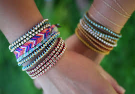 stackable bracelets an arm party 30 stackable bracelets to make