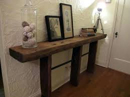 Wood Entry Table Pottery Barn Sofa Tables Distressed Foyer Table Reclaimed Wood
