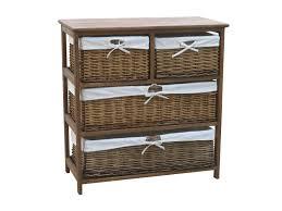 charles bentley wooden wicker drawer storage cabinet