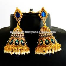 buy jhumka earrings online antique big jhumka earring jhumka earring one gram gold