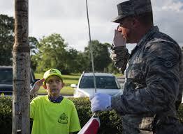 Flag Etiquette Honor Guard Teaches Kids Flag Etiquette U003e Eglin Air Force Base