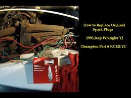 93 jeep engine replace spark plugs 1993 jeep wrangler yj sputtering stalling