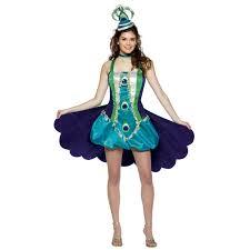 tween halloween costumes peacock gal teen costume buycostumes com