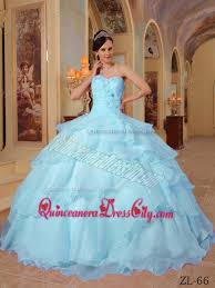 blue quinceanera dresses light blue gown sweetheart floor length organza beading