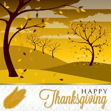 field of trees thanksgiving card in vector format royalty free