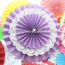 paper fans for wedding new design violet color paper fans backdrop wedding backdrop