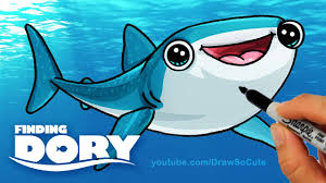 draw destiny finding dory step step cute whale