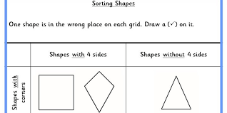 sorting shapes ks1 reasoning test practice classroom secrets