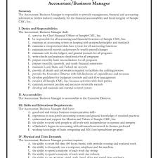 chief accountant business development manager job description ford marketing