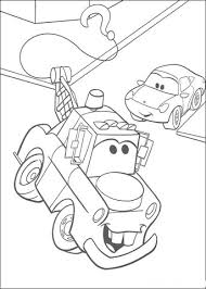 mater with mcqueen coloring page free printable coloring pages