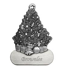Engravable And Personalized Pewter Christmas Ornaments