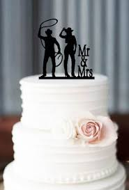 cowboy wedding cake topper kiss by gingerbabies on etsy 75 00