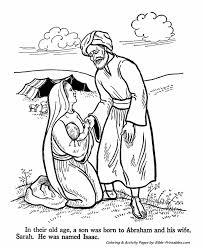 abraham sarah testament coloring pages bible printables