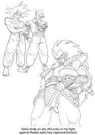 coloring page dragon ball z coloring pages 45