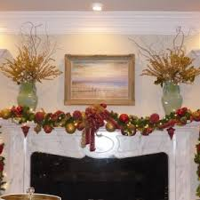 Christmas Decorating Ideas Mantels by Fireplace Modern Interior Home Design With Glamorous Christmas