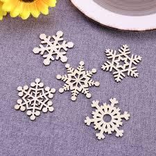 aliexpress com buy 10pcs assorted wooden snowflake cutouts craft