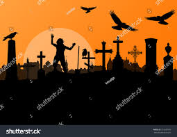 spooky cemetery clipart halloween spooky graveyard cemetery vintage background stock